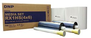 DNP RX1HS 4x6 Media Print Kit for RX1 and RX1HS, 2 sets paper & ink,1400 Prints