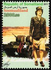 WWII US WAC Women's Army Corps Uniform Stamp / Landing Vehicle LVT-3 Bushmaster