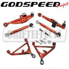 For 89-94 240sx S13 Godspeed Front+Rear Lower Control Arm W/ High Angle Tension
