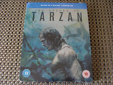 Blu Steel 4 U: The Legend Of Tarzan 3D & 2D & UV Ltd Ed Steelbook 2 Discs Sealed
