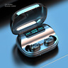 IPX7 Waterproof Wireless Bluetooth 5.0 Stereo In-Ear Headphones Earbuds Headset