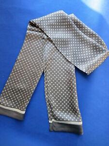 Men's 100% Mulberry Silk Scarf Double Layer Long Neckerchief 38Colors