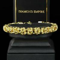 Damen Königsarmband 8 mm Armband 750er Gold 18 Karat vergoldet B1793L