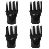 4x Pro Universal Salon Hair Dryer Diffuser Blow Cover Comb Attachment Black