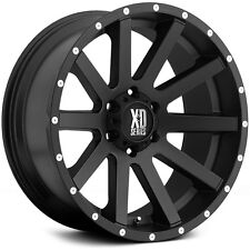 20 Inch Satin Black Wheels Rims LIFTED Jeep Wrangler JK XD Series 20x10 Set of 4