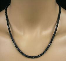 Halsketten und Anhänger mit echten Edelsteinen im Collier-Stil mit Saphir-Hauptstein für Damen