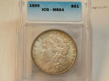 1889 P MORGAN DOLLAR ICG MS64 BU RARE IN HIGH GRADE