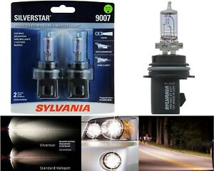 Sylvania Silverstar 9007 HB5 65/55W Two Bulbs Headlight High Low Beam Upgrade OE