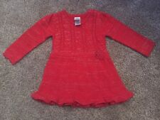 NEW w/o Tags - Baby Girls - Dress - Sz 12 m - Red - Long Sleeve - by Healthtex