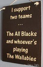 Rugby Sign Kiwi New Zealand All Blacks versus Wallabies Football Bar Shed Sign