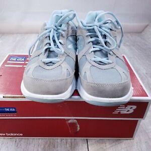 New Balance 877 Sneakers Shoes Womens 9 US 7 UK Silver Aqua Trainers WW877SB