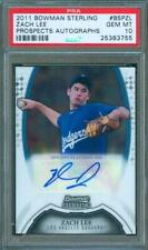 2011 Bowman Sterling ZACH LEE Rookie AUTO #BSP-ZL Trading Card Dodgers PSA 10