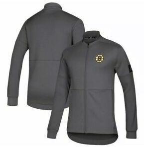 Adidas Game Mode Boston Bruins Full-Zip Bomber Jacket - Gray size XL $80