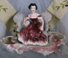 Large Lane Vintage Victorian Double Lady On Couch Planter - Beautiful!