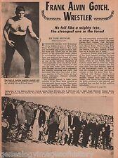 Frank Alvin Gotch-Early Wrestling Hero+Farnerburns,Green,Gunderson,Hackenschmidt