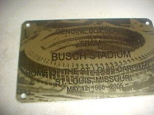 ST. LOUIS BUSCH   Stadium seat PLAQUE