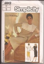 SIMPLICITY Misses' 2-Piece Dress Pattern...ALI MACGRAW...6842..UNCUT..OOP