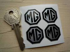 MG Octagonal Classic Car stickers set of 4 x 25mm