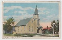 Vintage Postcard Girard, OH CHRISTIAN CHURCH ~ Light Pole ~ Steeple ~ Used