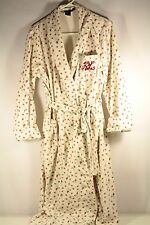 RALPH LAUREN Robe Womens M/L Soft Cotton Embroidered RL Monogram Floral