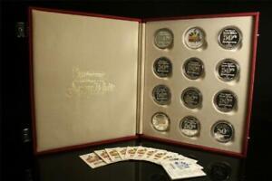 50th Anniversary Walt Disney's Snow White And The Seven Dwarfs Set .999 Silver