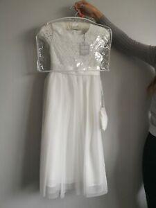 Debenhams Occasion Flower Girl Dress age 10 ivory