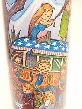 vintage ACL related ALUMINUM Soda POP Bottle:  Full MOUNTAIN DEW - HIPPIE SCHOOL