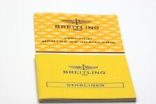 Book Booklet & Diamond Certificate Breitling Starliner Watch Instruction Manual