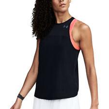 Under Armour UA HeatGear Accelerate Black Tank Ladies Running Vest M