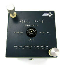 STANCIL-HOFFMAN Vintage P-70 POWER SUPPLY 20 VDC 0.4A Minibox w/ 9 Pin Connector