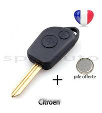 plip coque clé Citroen C1 C2 C3 C4 C5 C6 C8 2 boutons + pile
