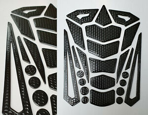 Tankpad Tankschutz Motorrad Carbon Optik 3D universell Tankschutz Schwarz Honda