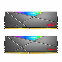 XPG SPECTRIX D50 RGB Gaming Memory: 16GB (2x8GB) DDR4 3200MHz CL16 GREY