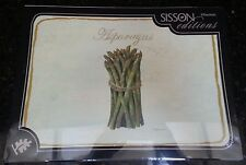 Sisson Editions 4 Placemats Vegetables Asparagus Turnips Eggplant Sweet Peas