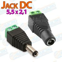 Adaptador alimentacion Jack 5,5x2,1 DC - Macho + Hembra - Arduino Electronica DI