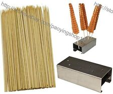 1pc Stainless Steel Lolly Waffle Stick Holder Stand + 100pcs 35cm Bamboo Skewers