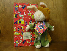 Gund Playthings Past Series #9551 COWBOY RABBIT 1st Ed, NEW in Box, Mohair 10""