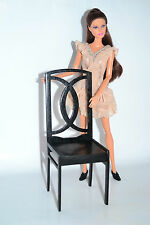 chair for dolls 1:6 1/6 dollhouse furniture for dolls FR Barbie black V2