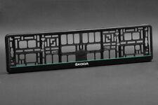 2 x Skoda Euro License Number Plate Frame Holder