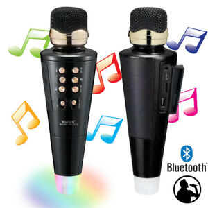 Voice Changing Microphone & Speaker (Karaoke BT 5.0, LED Lights w/ FM Radio)