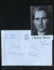 More details for rare harold pinter signed photo + autograph message- nobel, tony winner