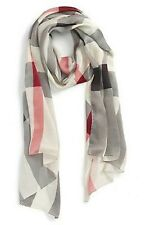 #7 BURBERRY NOVA CHECK 100% SILK LONG SCARF  100% AUTHENTIC