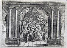 Unfaithful wife of Marcus Aurelius Original copper engraving 1693