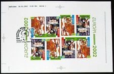 S750) Georgia Cept Europe 2002 Unperforated H-Sheet with Esst Circus Test Print