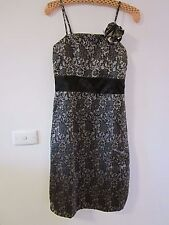 BEAUTIFUL BLACK AND SILVER, LACEY DRESS, SIZE S [APPROX 8/10] BY COLE