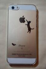 "NEW iPhone 5/SE Transparent Plastic Phone Case ""Neko Jump"" Made in Japan"