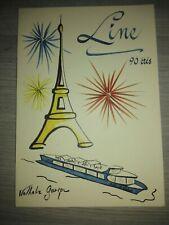 Menu rare 90 ieme anniversaire de Line Renaud seulement 210 exemplaires