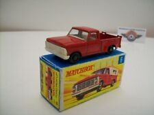 Matchbox 1-75, Nr.6, Ford F100 Pickup, 1965, red, (Made in England), Scale 1:67
