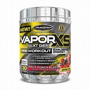Muscletech Vapor X5 Next Gen 5 in 1 Pre-Workout 30 Servs USA** PLUS FREE SAMPLE