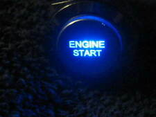 19mm BLUE Momentary ENGINE START LED Metal Switch Push Button Lighted 12V fu